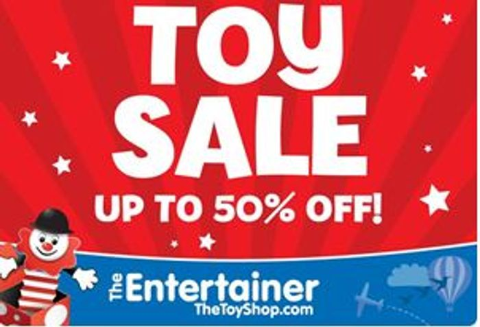 Special Offer! TOY SALE - up to 50% off at the ENTERTAINER (Some 70% OFF!)