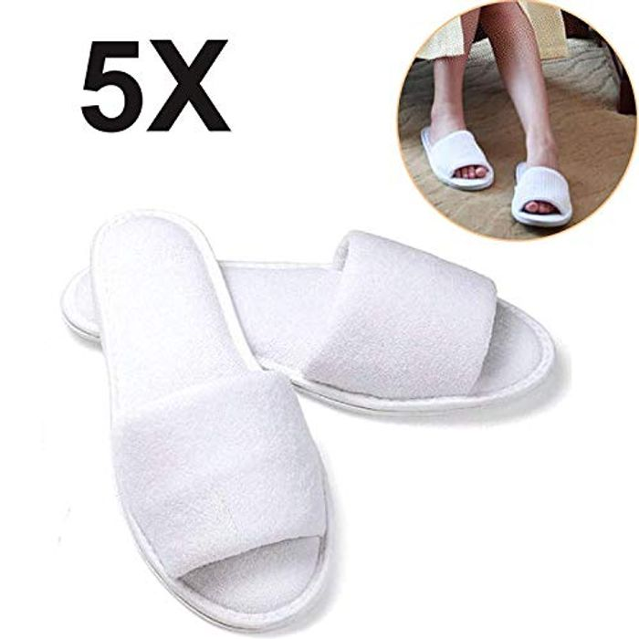 Cheap Hotel/Spa Disposable Slippers - 5 Pairs £5.29 Free P&P