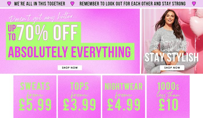 Up to 70% at Yours Clothing