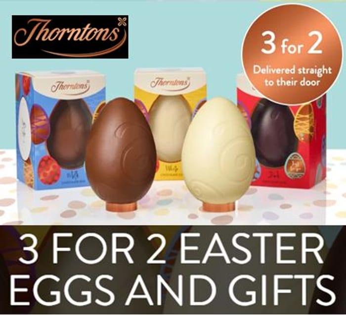 Thorntons EASTER EGGS 3-for-2 OFFER