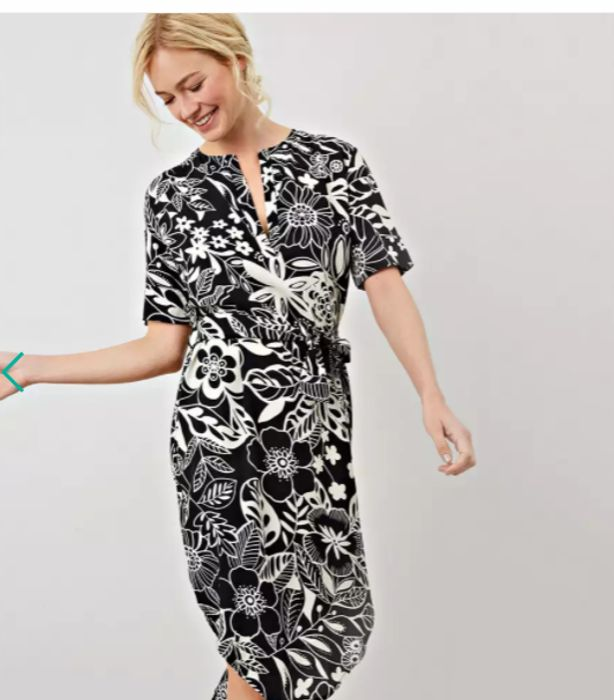 James Lakeland Black Romana Print Dress