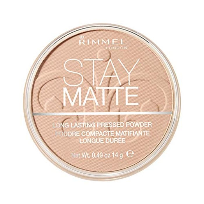 Rimmel London Stay Matte Pressed Powder, Silky Beige, 14 G