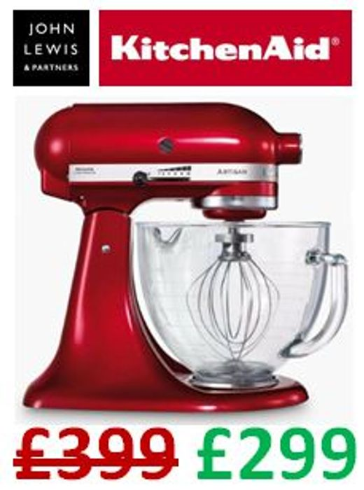 SAVE £100 + FREE DELIVERY - KitchenAid Artisan 4.8L Stand Mixer, Candy Apple Red