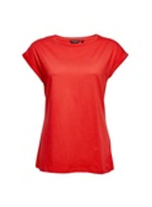 Red Roll Sleeve T-Shirt