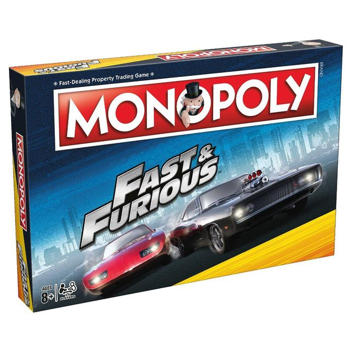 Cheap Fast and Furious Monopoly on Sale From £29.99 to £23.99