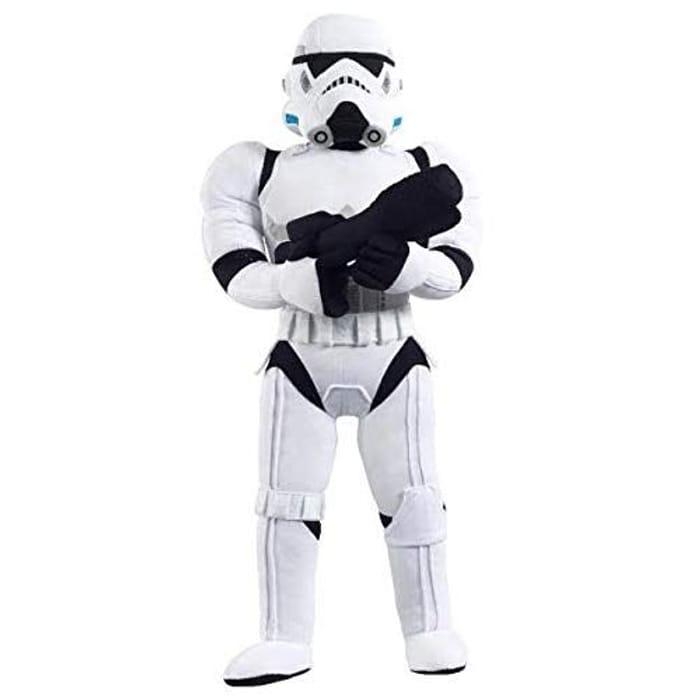 """This 24"""" Mega Poseable Storm Trooper Talking Plush"""