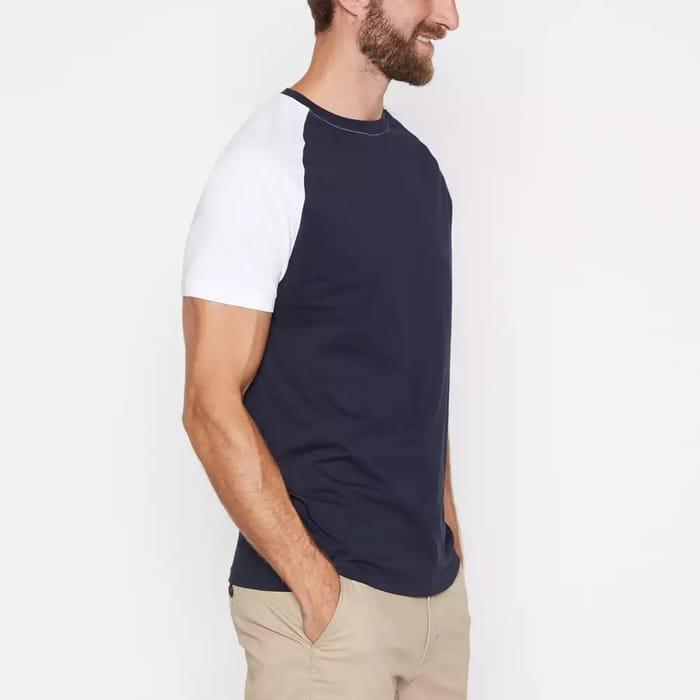 Red Herring-Navy Cotton Raglan T-Shirt