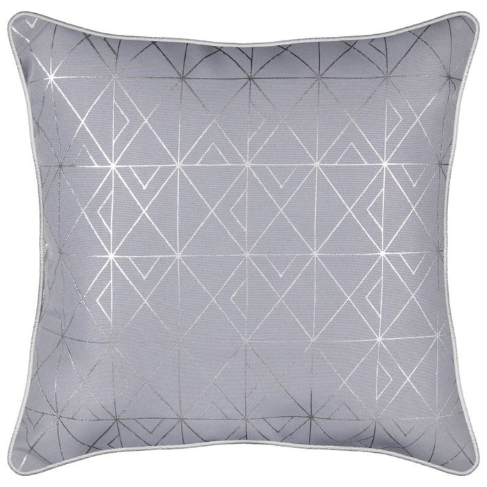 Silver Foil Canvas Cushion 40 X 40cm on Sale From £7 to £5