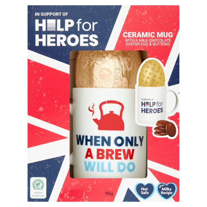 Help for Heroes Mug Egg & Buttons 95G HALF PRICE