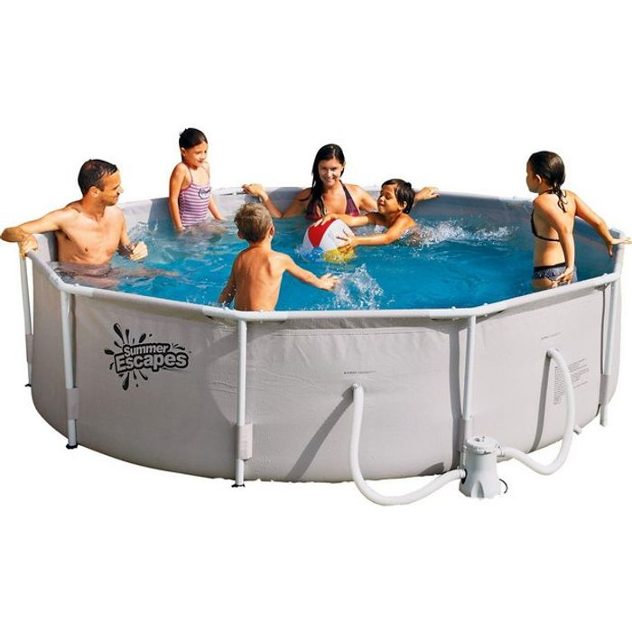 Cheap Summer Waves White Pool - 10ft - 4,792 Litres365/3203 Only £150!