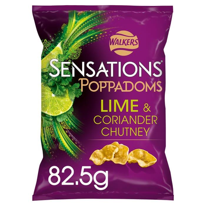 Sensations Lime/Coriander Poppadums 82.5G