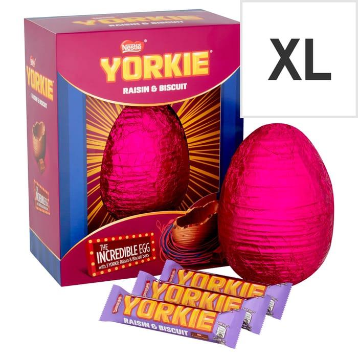 Nestle Yorkie Raisin & Biscuit Chocolate Egg 522G