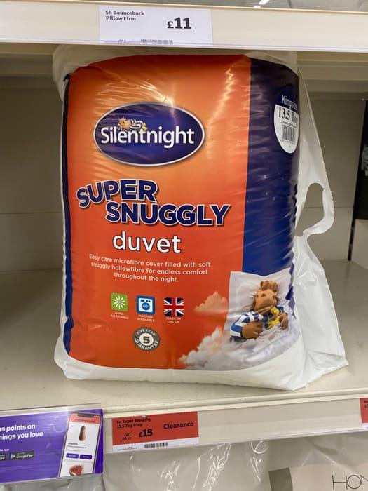 Super Snuggly 13.5tog King Duvet - Half Price