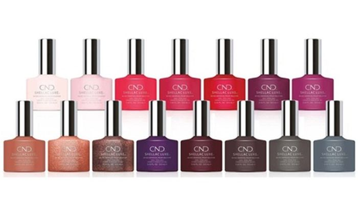 Cheap Six Assorted Bottles of CND Shellac Luxe Nail Polish Only £18.98