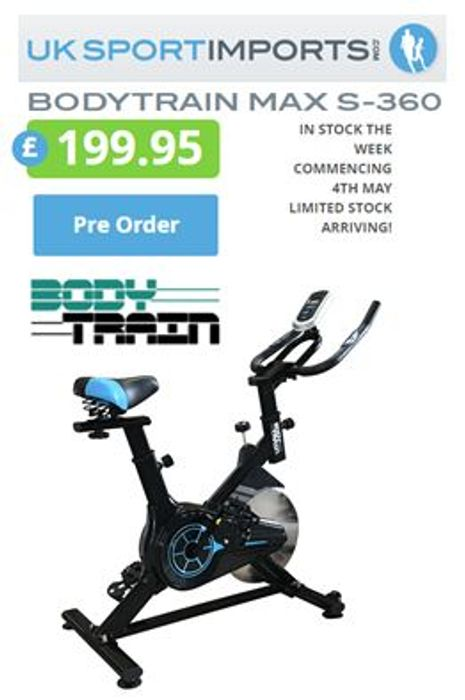 BODYTRAIN MAX S-360 EXERCISE BIKE (Pre-Order) Other Models Too