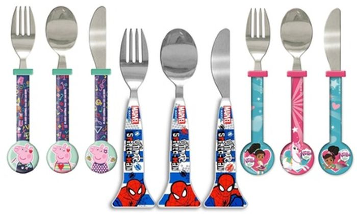 Cheap Three-Piece Kids' Character Cutlery Set - Only £0.49!