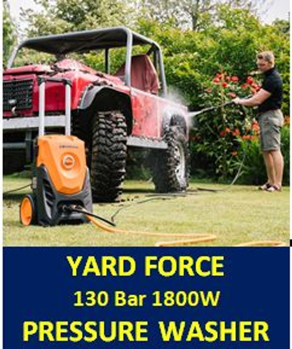 Yard Force 130 Bar 1800W High Pressure Washer - £10 OFF & FREE DELIVERY