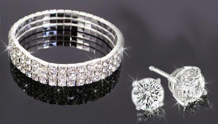 Cheap Crystal Bracelet Set - Only £6.99!