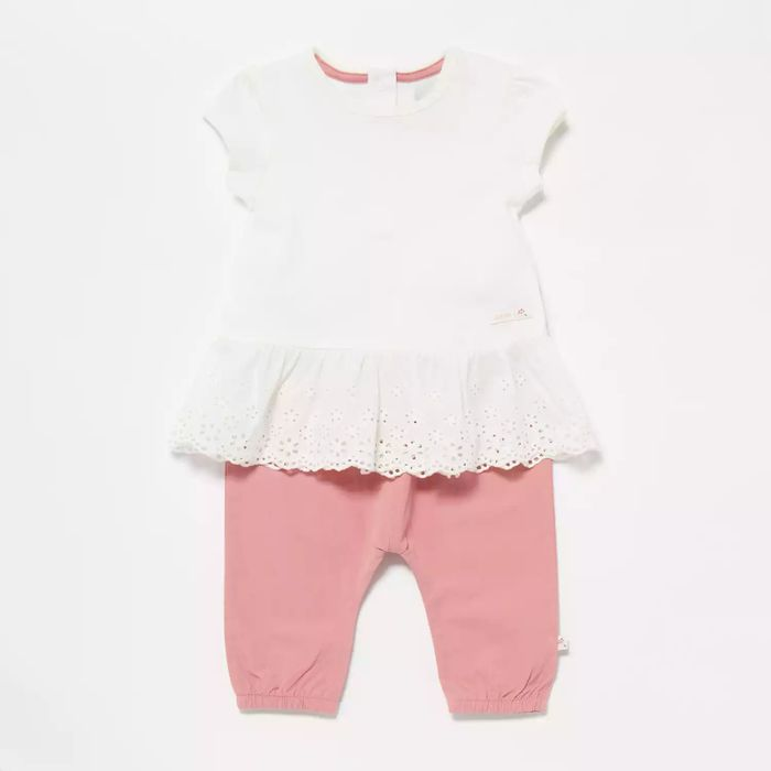 J by Jasper Conran - Baby Girls' Multicoloured Lace Top and Bottoms Set