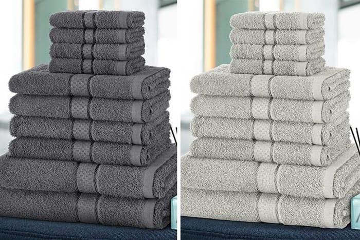 Cheap 10pc Cotton Towel Bale - 10 Colours! - Save £37