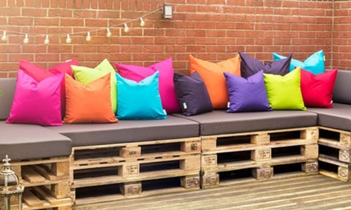 Four-Pack of Water-Resistant Filled Outdoor Scatter Cushions in Choice of Size