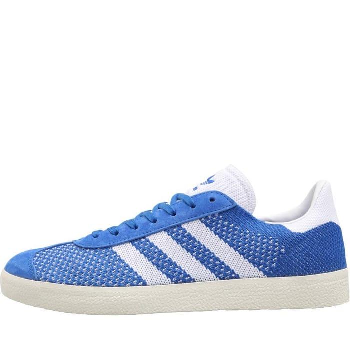 CHEAP! Adidas Originals Mens Gazelle Primeknit Trainers Blue/Footwear White
