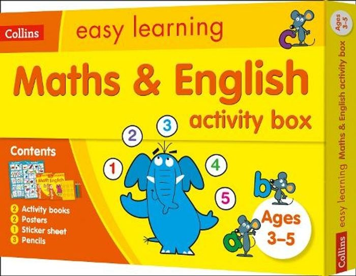 Maths and English Activity Box Ages 3-5: Ideal for Home Learning