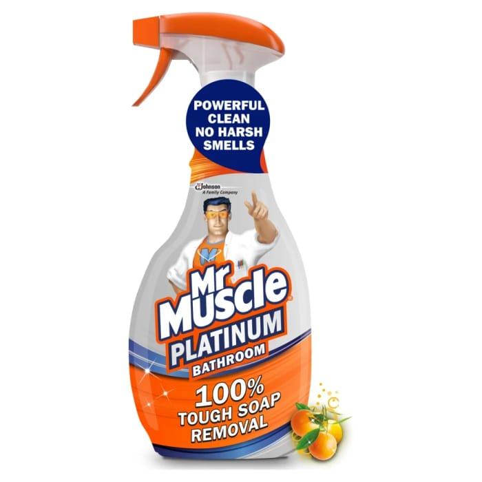CHEAP! Mr Muscle Platinum Mandarin Orange Bathroom Spray 750ml