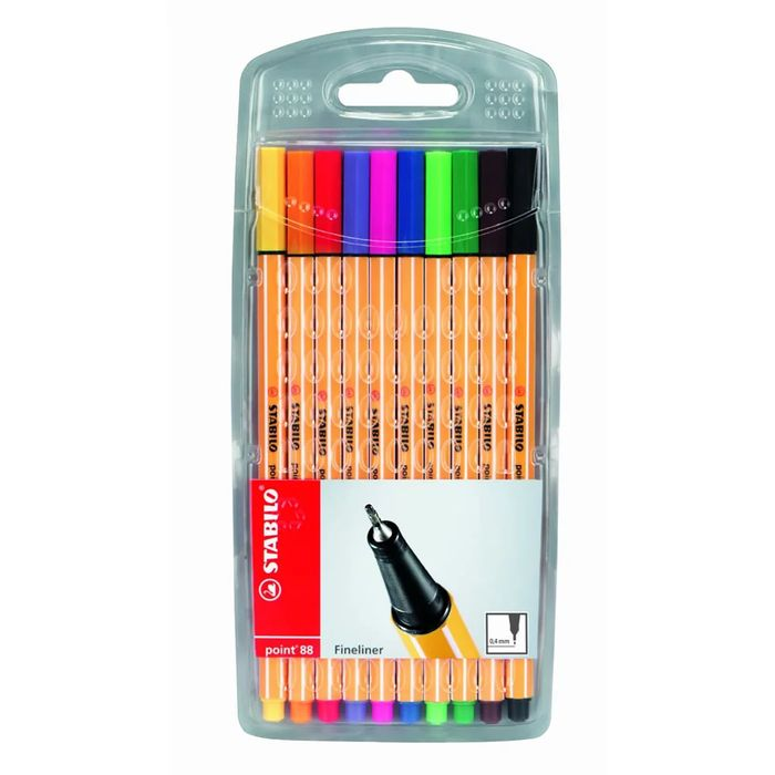 STABILO Point 88 Fineliners 10 Pack