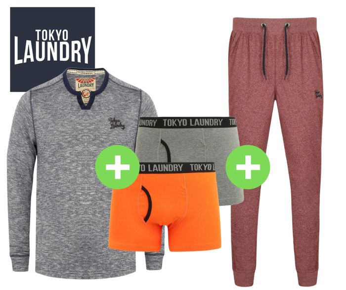 Tokyo Laundry Top + 2x Boxers + Jogger's for Only £20