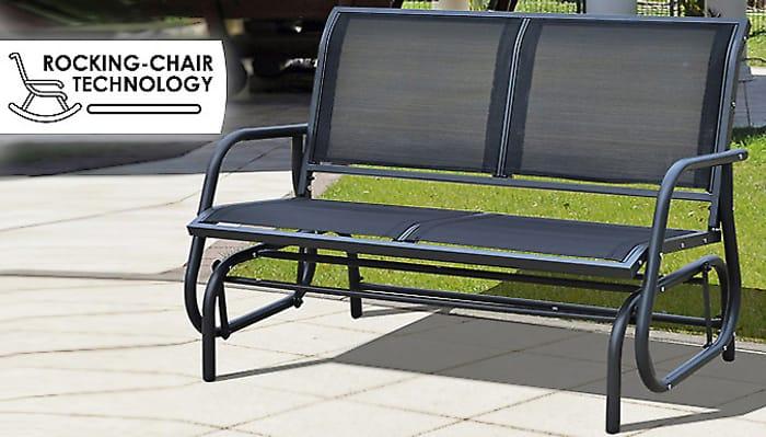 2-Seater Rocking Garden Bench