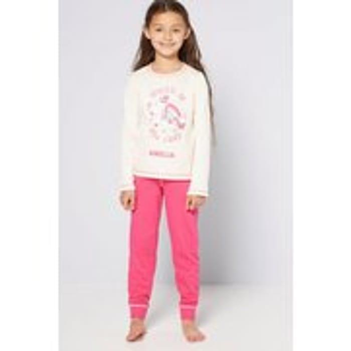 Girls Personalised Unicorn Pyjamas