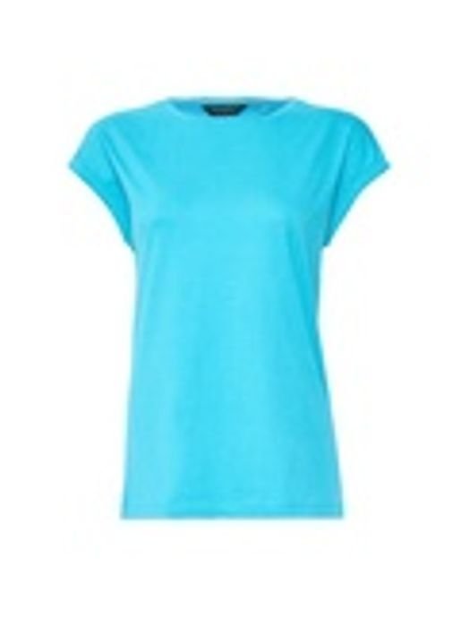 Blue Roll Sleeve T-Shirt