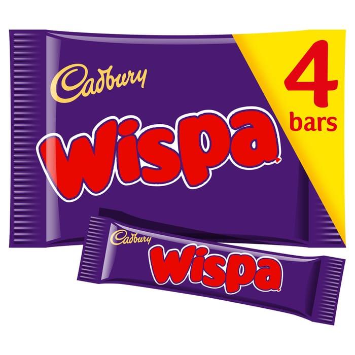 Cadbury Wispa 4 Pack 120G Sve 50p Now £1 @Tesco
