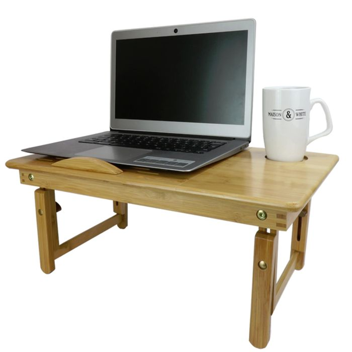 Bamboo Folding Laptop Stand £12.54 Delivered with Code