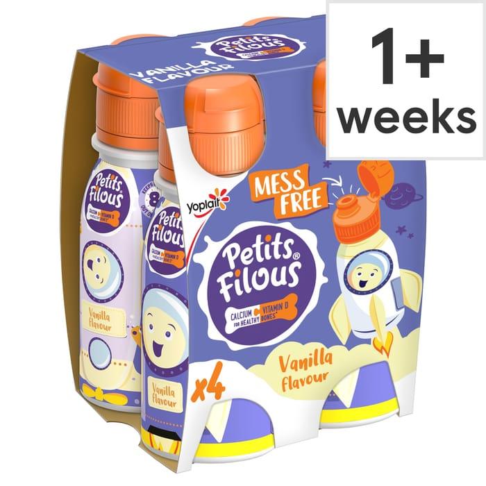 Petits Filous Vanilla Drinking Yogurt 4X100g