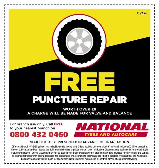 Free Car Puncture Repair
