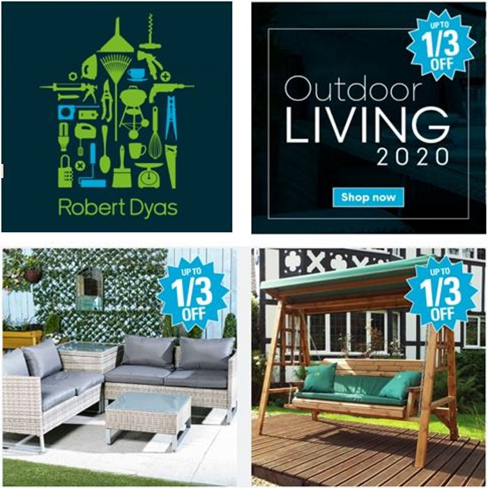 Special Offer! Up to 1/3 off OUTDOOR LIVING Sale at Robert Dyas