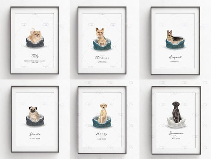 Cheap Personalised Dog Print Only £6!