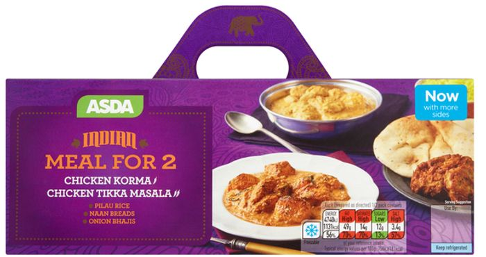 Cheap ASDA Indian Chicken Korma and Chicken Tikka Masala Meal for 2 Only £4.75!