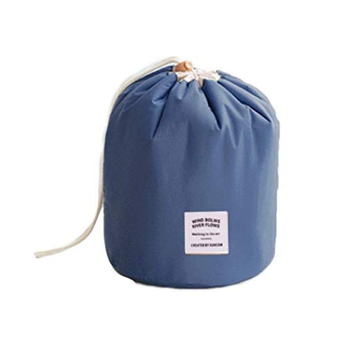 CHEAP! Women Fashion Cosmetic Bag Drawstring round Barrel Toiletry Pack 70% Off