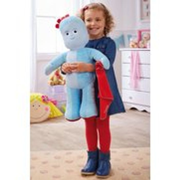 Personalised in the Night Garden Jumbo Talking Iggle Piggle Soft Toy