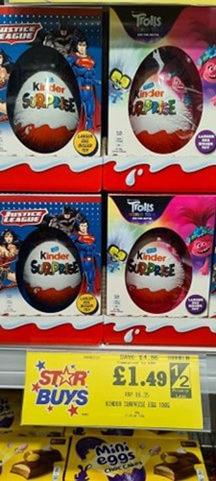 *Bargain of the Year* Kinder Egg Easter Eggs Justice League / Trolls World Tour
