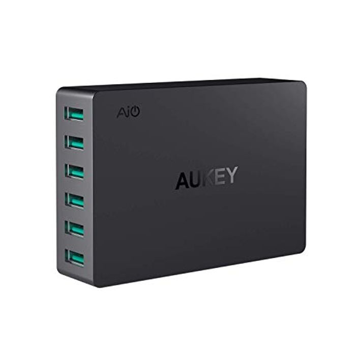 60W Aukey USB Wall Charger Adapter 6 Ports, USB Charging Station