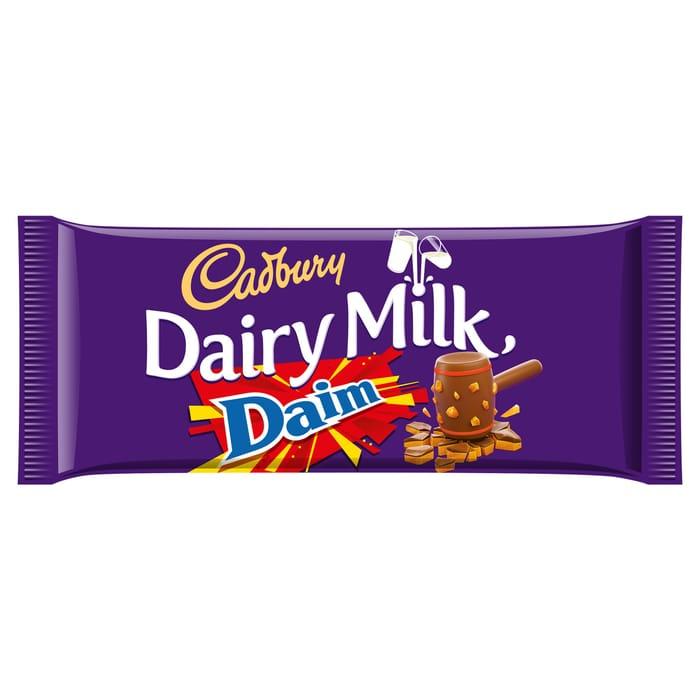 Cadbury Dairy Milk Daim Chocolate Bar 120G