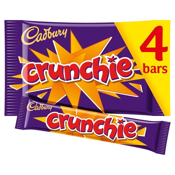Cadbury Crunchie Bars 4 Pack 128G - Only £1!
