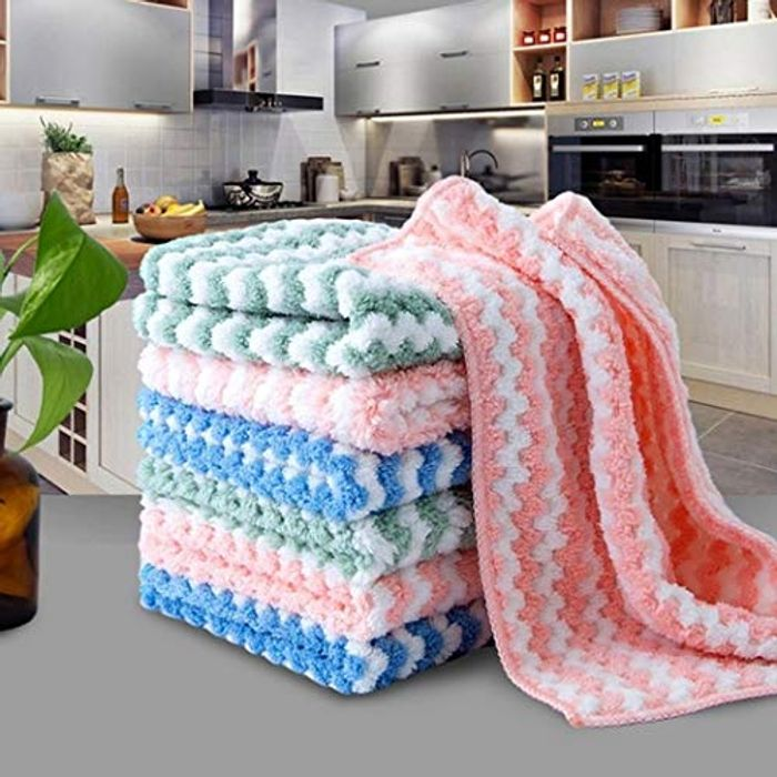 Sioneit New Non-Sticky Dishwashing Multi-Functional Rag Cloths Only £2.8
