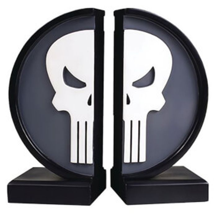 Cheap Gentle Giant Marvel Punisher Logo Bookends - 18cm Only £19.99!