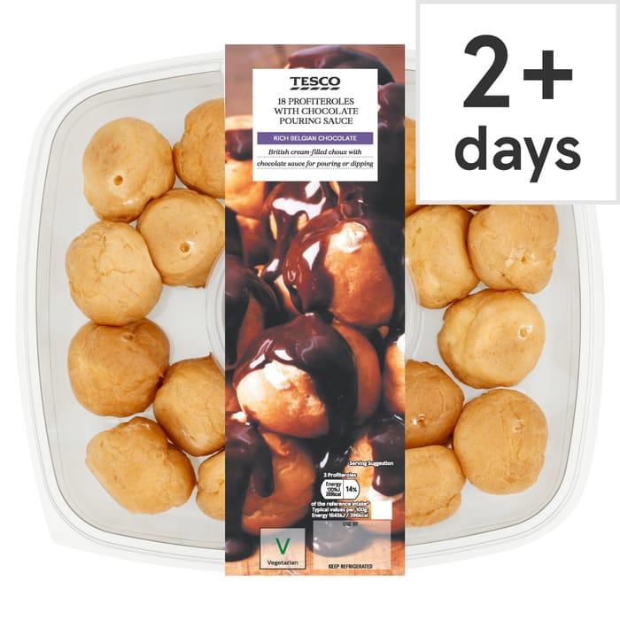 Tesco Chocolate Profiteroles 18 Pack - Half Price