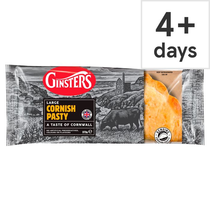 Ginsters Large Cornish Pasty 272G HALF PRICE